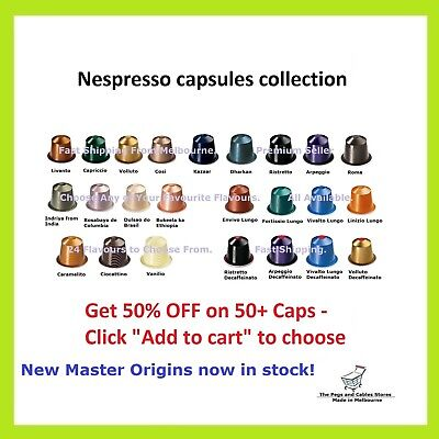 Nespresso Capsules Coffee Pods All 24 Varieties Choose Your Own