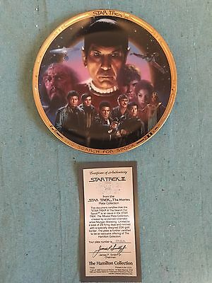Hamilton Star Trek Movies Plate Collection - The Search For Spock - With Coa