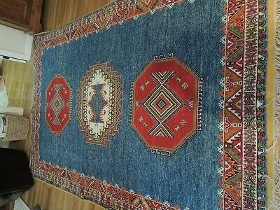 Original Antique Hand Made 8.5 X 11 Morocco Tribal(Alchnie) 100% Wool Rug