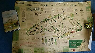 antique golf poster of golf history