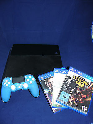 Sony PS4 Konsole PlayStation 4 500GB + Controller + 3 Spiele+ Kamera Second Son