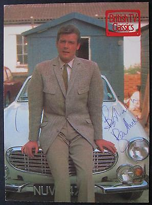 Roger Moore,The Saint, SIGNED Postcard, 1989, James Bond, Ian Fleming