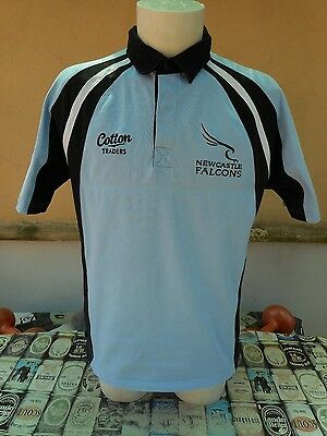 Maglia Rugby Newcastle Falcons Cotton Traders L Shirt Trikot Maillot Camiseta