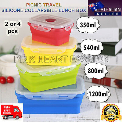 Cheapest Safe Eco-friendly Silicone Collapsible Folding Lunch Box Food Container