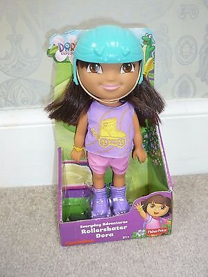 Brand New Boxed Fisher Price Everyday Adventures Roller Skater Dora Doll 3Y+