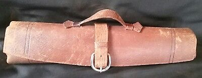 Very Cool Soft Rolled Leather Map or Music Scroll Carrier - w/Buckle Handle
