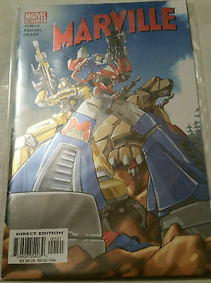 Marville #1 (Transformers Varient Cover) by Bill Jemas & Mark Bright NM
