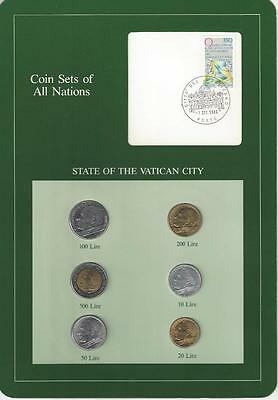 Coin Sets of All Nations - Vatican City, 6 Coin Set, Green Card