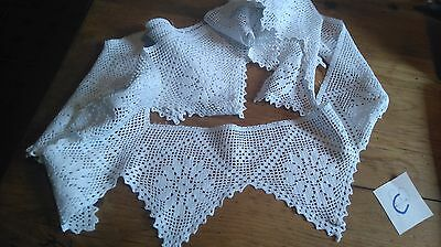 (C) Length Of Vintage Crochet Lace Reclaimed Lace In Good Order Crafts Sewing
