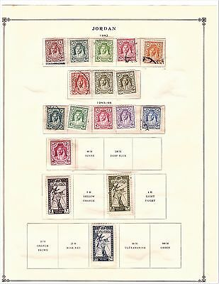 TransJordan Jordan Stamps 14 Scott Pages from 1942-1970, Large collection #2