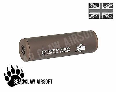 110mm Stubby Dark Earth Airsoft Barrel Extension 14mm ccw - mock silencer