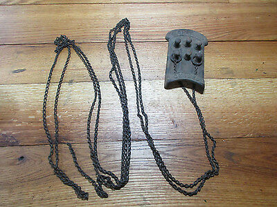 Antique Cast Iron Chain Furnace Control 1890s 1900s Ornate Finish Victorian