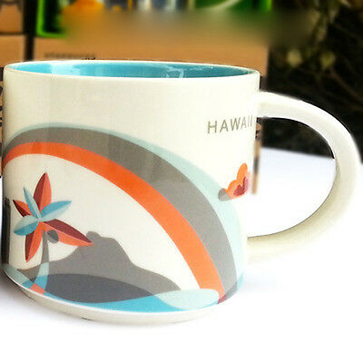 14oz Starbucks Hawaii You Are Here Coffee Mug Cup YAH Collection NEW