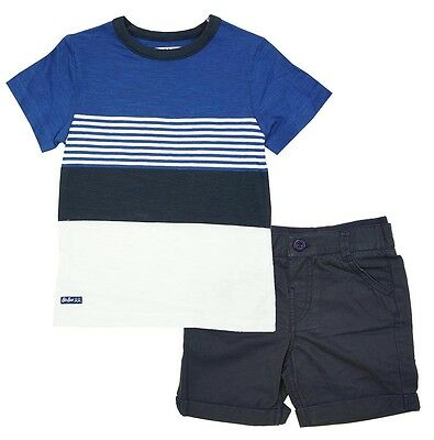 Boys T-Shirt Shorts Tee Sail Stripe Top Set Outfit Cotton 9 Months to 4 Years