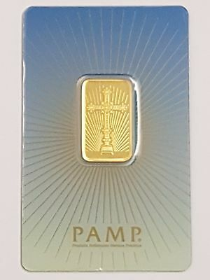 Pamp Suisse Faith 10G (10 Gram) 24Ct Purity 999.9 Gold Bar Sealed