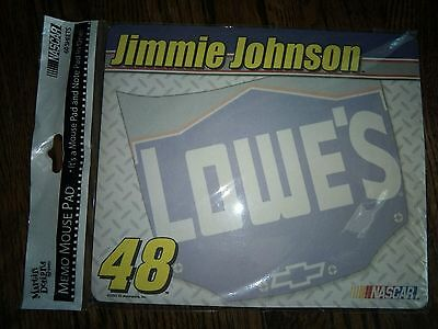 Nascar Jimmy Johnson Note Mouse Pad #48 Lowes