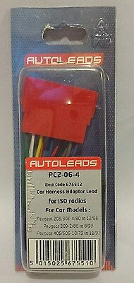 Car Harness Adaptor Lead for ISO Radios - Pergeot - PC2-06-4