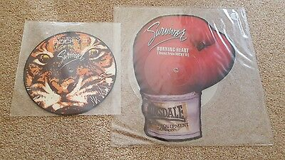 """Survivor - Burning Heart / Eye of the Tiger - 7"""" Vinyl Picture and Shaped Discs"""