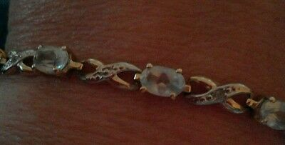 9ct gold and topaz bracelet