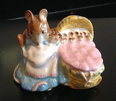 "BESWICK BEATRIX POTTER FIGURE FIGURINE  "" Hunca Munca ""  BP 3b"