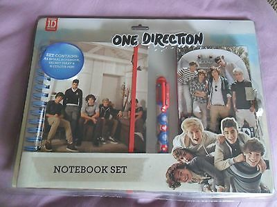 One Direction - Notebook Set with Secret Lockable Diary &  6 Colour Pen - New