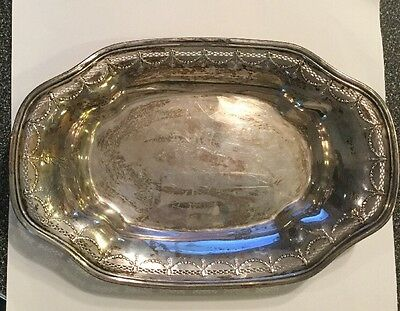 Antique International Silver Co. Sterling Silver Bread Dish Tray J 24-1