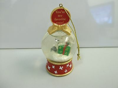 "Danbury Mint CAT ""You're My Favorite Treat!"" SNOW GLOBE CHRISTMAS Xmas ORNAMENT"