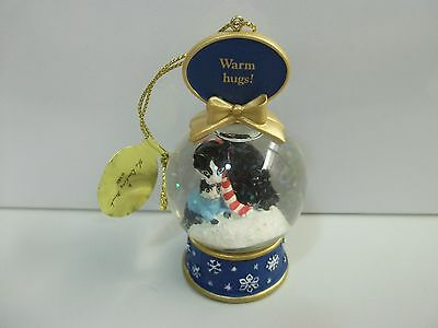 Danbury Mint CAT Warm Hugs / Mommy & Me SNOW GLOBE Christmas Ornament FREE SHIP!