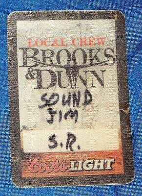 Brooks & Dunn Tour Local Crew Satin Backstage Pass
