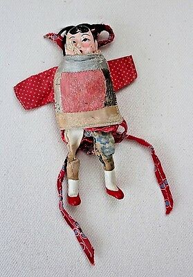Antique Vintage Early 20th Century Oriental Japanese Wood Doll Clothed (Chinese)