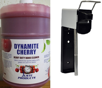 Cherry Hand Cleaner,DYNAMITE CHERRY (2) GAL PACK + WALL DISPENSER ONLY $85.89