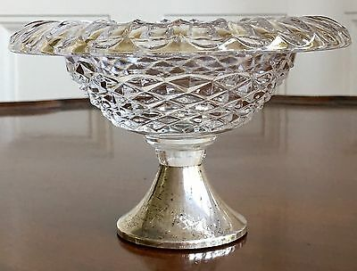 A Glass And Silver Pedestal Bowl, Hallmarked. 14.5cm Dia.