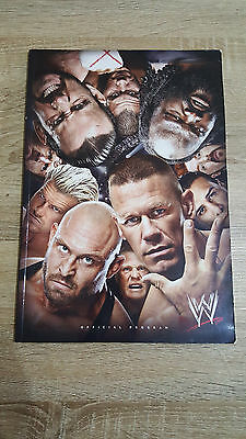 Official Souvenir WWE Program Friday 15th November 2013-THE 02 + PRINTED TICKET