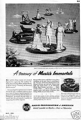 1951 Print Ad of RCA Victor 45 Record Player Treasury of Immortal Performances