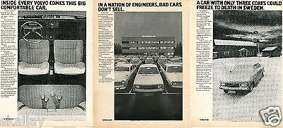 1972 Print Ad of Volvo Sweden 3 DIFFERENT ADS