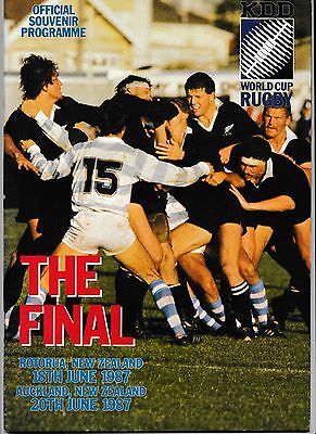 Rugby World Cup 1987 - THE FINAL 'OFFICIAL PROGRAMME' - ALL BLACKS v FRANCE
