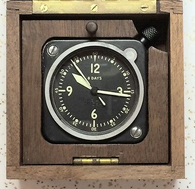 Longines Wittnauer LeCoultre 7 Jewel Cal 201 M 201M Aircraft Clock-In-A-Box
