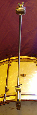 """1920-30s LEEDY  14"""" Hoop mounted Cymbal """"L"""" arm  Excellent Condition"""