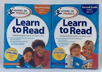 Hooked On Phonics Learn To Read 2nd Second Grade Level 1 & 2 New Sealed