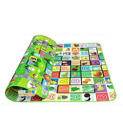 2X1.8M Waterproof Baby Crawl Mat Kids Foam Floor Puzzle Blanket Picnic Rug