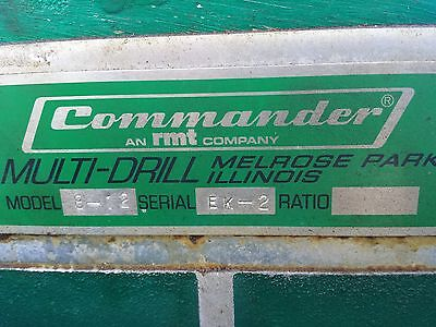 Commander multi-drill 8-12 square used good working condition