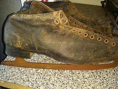 vintage ice skates cira 40's 50's? came from my father's house