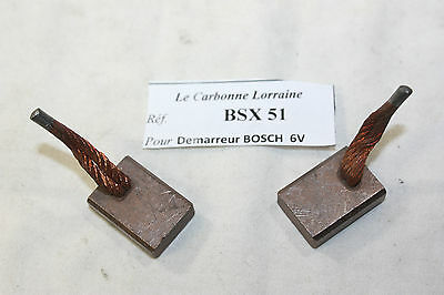 Charbons Bsx 51 Pour Demarreur Bosch Neuf...pour Ford Dkw Daf Opel