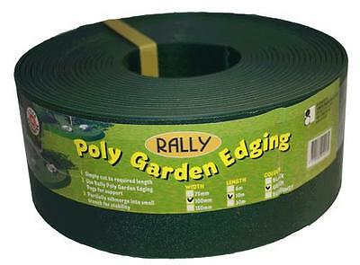 Landscaping Garden Edging Strong Plastic  Green 75mm x 10m