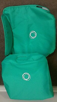 bugaboo donkey hood canopy apron fabric set limited edition Jade green