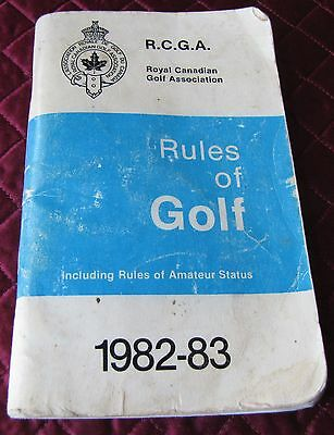 R.c.g.a. Rules Of Golf 1982-83