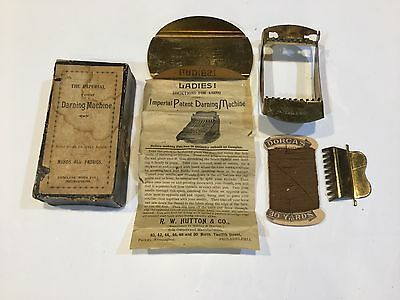 Antique Imperial Darning Machine With original box instructions Thread