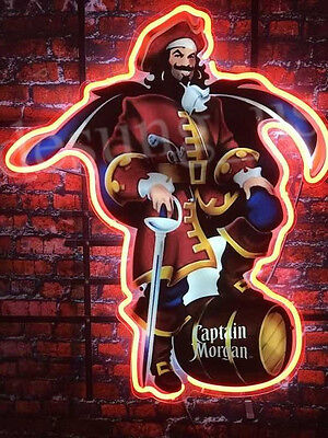 New Captain Morgan Rum Bar Neon Sign 24''X20'' Ship From USA