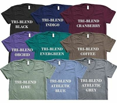 American Apparel Tri Blend T-Shirt Vintage Style Track Tee Shirt 9 Colors TR401