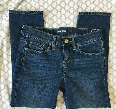 Old Navy Girls Size 10 Regular Skinny Jeans Medium Wash Excellent Used Pants